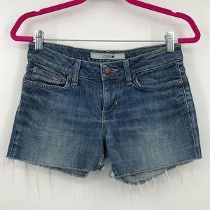 Joe's Jeans Mid Rise Cutoff Distressed Jean Shorts